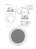 Picture of TOA PC-1869S 6 Watt Ceiling Speaker